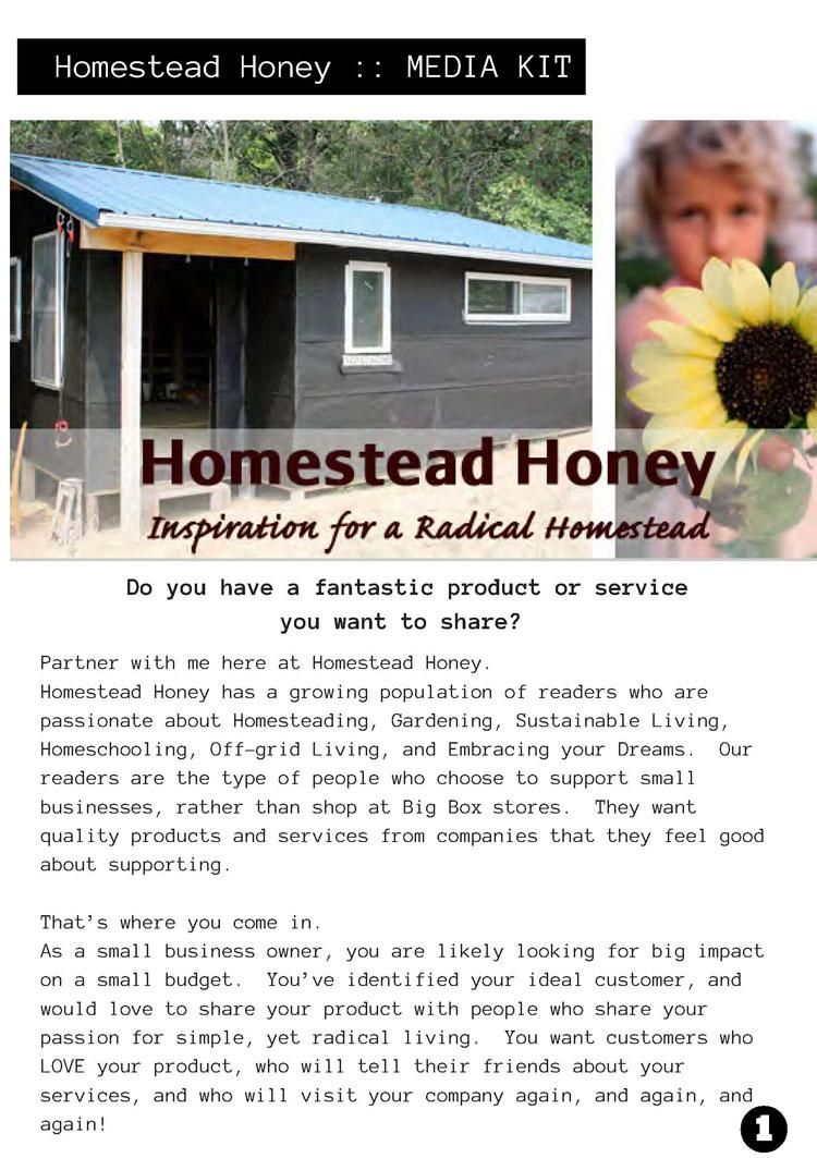 Media Kit Example Homestead Honey