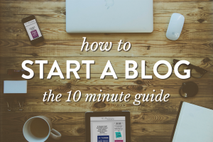 How to Start a Blog :: Jeni takes you step by step through setting up your blog. You can be blogging in just 10 minutes!