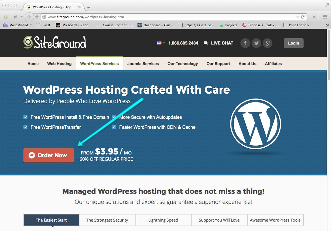 Start a Blog Step 01: Buy Blog Hosting