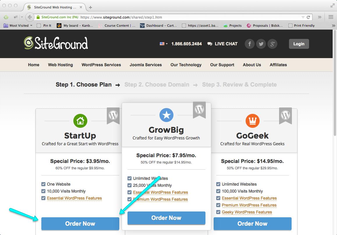 Start a Blog Step 02: Buy Blog Hosting