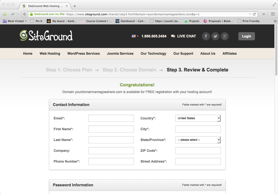 Start a Blog Step 04: Enter Details