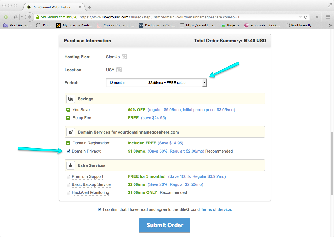Start a Blog Step 05: Choose Blog Hosting Plan