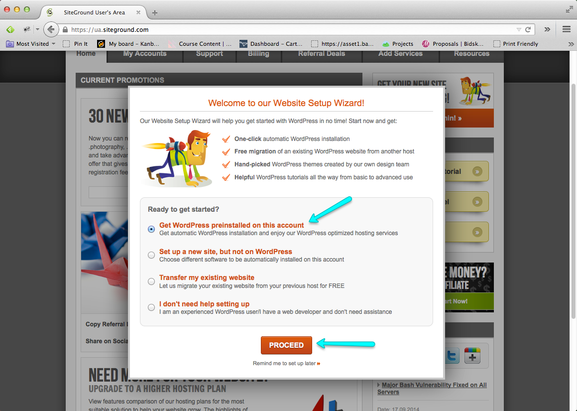 Start a Blog Step 07: Install WordPress Blog