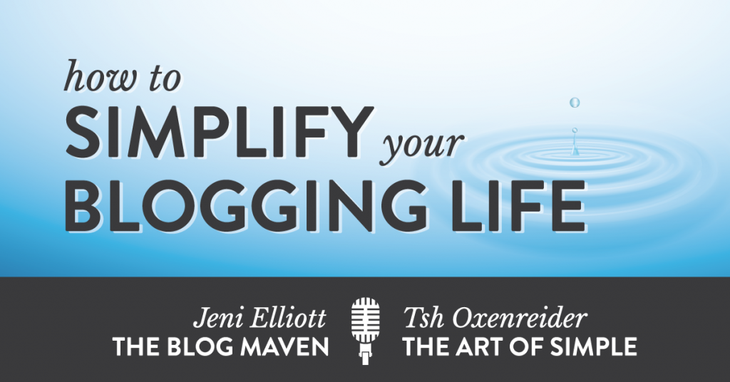 How to Simplify your Blogging Life: an Interview with Tsh from The Art of Simple
